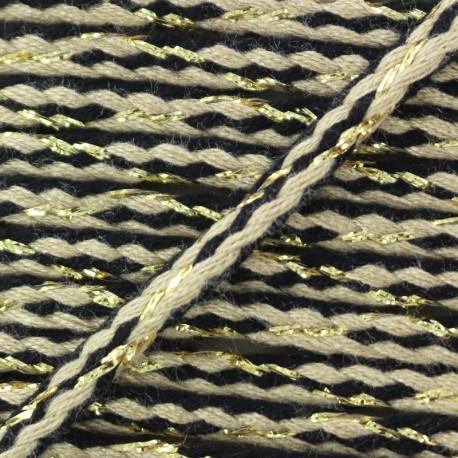 Festif braided lurex cord - taupe x 1m