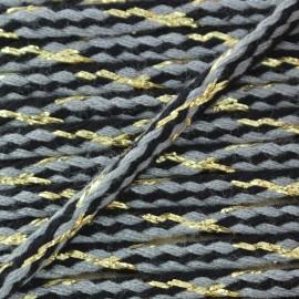 Cordon tressé lurex Festif - gris x 1m