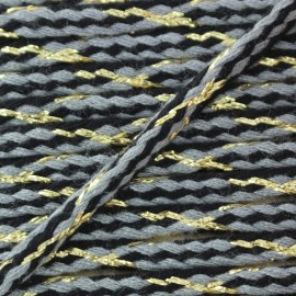 Festif braided lurex cord - grey x 1m
