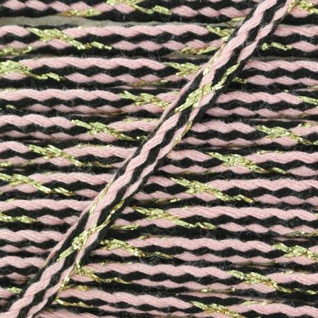 Festif braided lurex cord - pink x 1m
