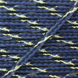 Cordon tressé lurex Festif - bleu x 1m