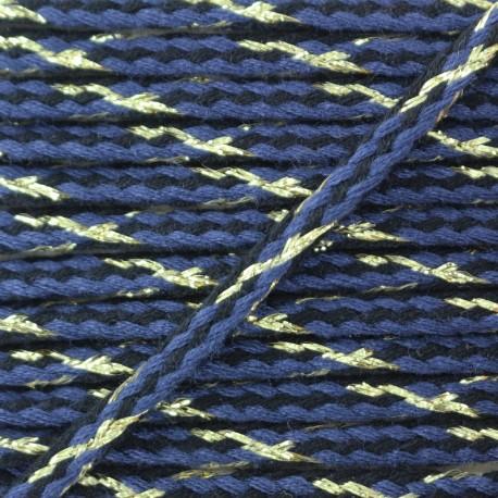 Festif braided lurex cord - blue x 1m