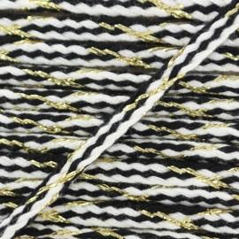 Cordon tressé lurex Festif - blanc x 1m