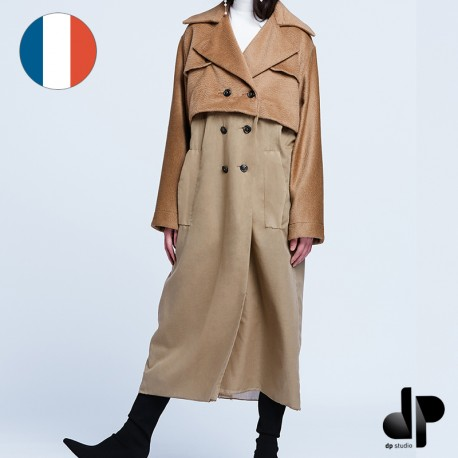 Sewing pattern DP Studio Trompe l'oeil trenchcoat - Le 702