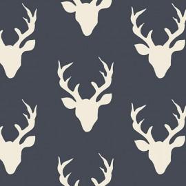 Tissu Coton AGF Hello, Bear - Buck Forest Twilight x 20cm