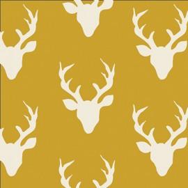 AGF fabric Hello, Bear - Buck Forest Mustard x 20cm