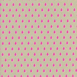 ♥ Coupon 240 cm X 110 cm ♥ Tissu Coton Cotton Steel Beauty Shop - drops in pink