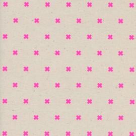 Tissu Coton Cotton Steel XOXO - flamingo x 10cm