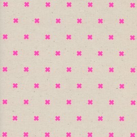 Tissu Coton Cotton Steel XOXO - flamingo x 10cm