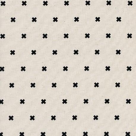 Tissu Coton Cotton Steel XOXO - chocolate chip x 10cm