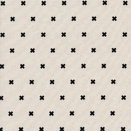 XOXO Cotton Steel Cotton fabric - chocolate chip x 10cm