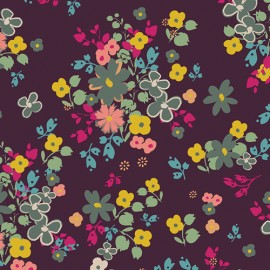 AGF cotton fabric Indie Boheme - Blooming Soul Plum x 10cm
