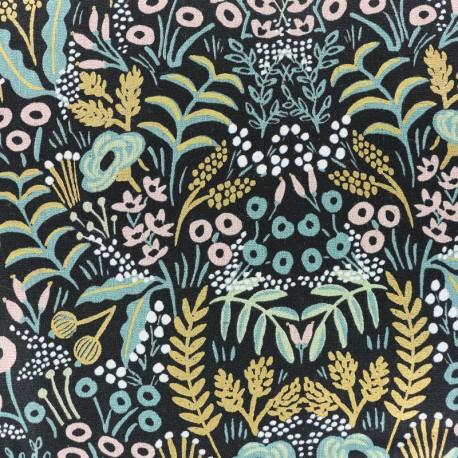 Tissu coton et lin Cotton Steel Menagerie - Tapestry midnight x 10cm