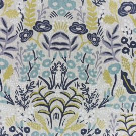 Tissu coton et lin Cotton Steel Menagerie - Tapestry natural x 10cm