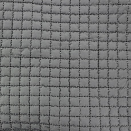 Quilted Lining Fabric - Grey x 10cm