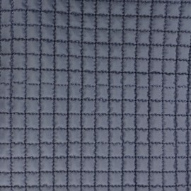 ♥ Coupon 170 cm X 150 cm ♥ Quilted Lining Fabric - Navy blue