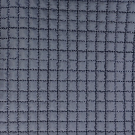Quilted Lining Fabric - Navy blue x 10cm
