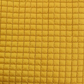 Quilted Lining Fabric - Mustard yellow x 10cm