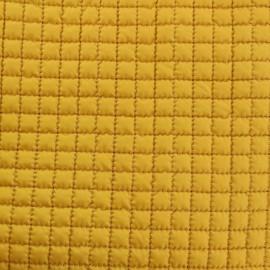 Tissu doublure matelassée - jaune moutarde x 10cm