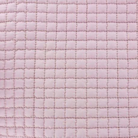 Quilted Lining Fabric - Light pink x 10cm