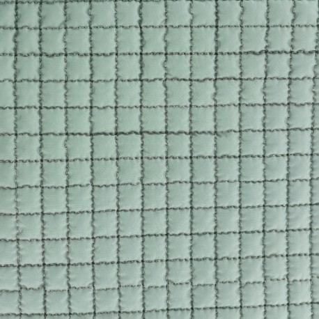 Quilted Lining Fabric - Green x 10cm
