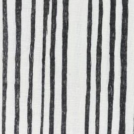 Tissu double gaze de coton Kokka Beau Yin Yang - Saaaa Saaa Noir x 10 cm