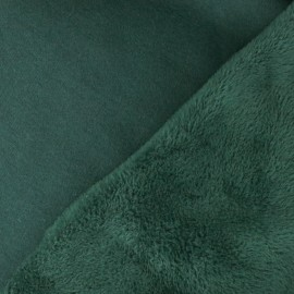 Plain Sweat with minkee reverse side fabric - wood green x 10cm