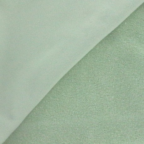 Tissu éponge jersey jade x 10cm