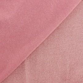 Tissu éponge jersey corail clair x 10cm