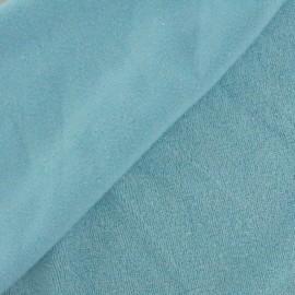Tissu éponge jersey bleu ciel x 10cm