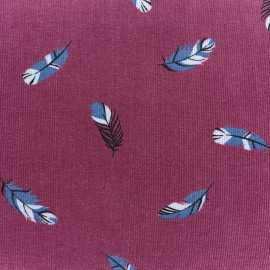 Tissu velours milleraies Fallen feather - rouge x10cm