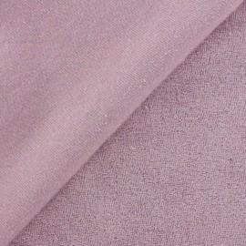 Tissu éponge jersey lavande x 10cm