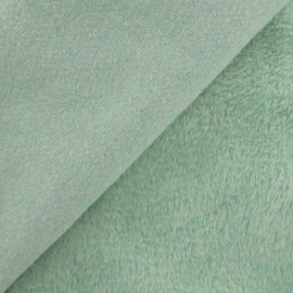 Plain Sweat with minkee reverse side fabric - jade x 10cm