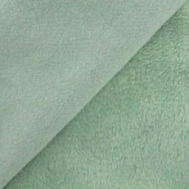 Tissu sweat envers minkee Uni - vert jade x 10cm