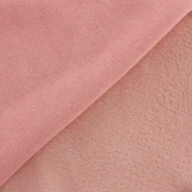 Plain Sweat with minkee reverse side fabric - pink x 10cm