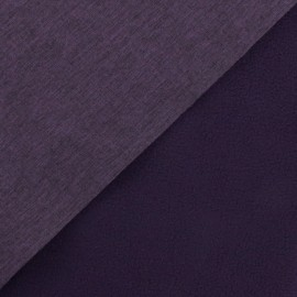 Nano-tex Water-repellent Softshell fabric –flecked purple x 10cm