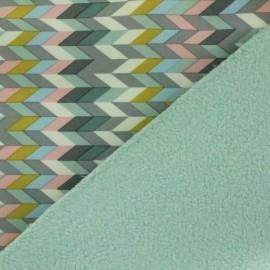 Tissu Softshell Chevrons menthe x 10cm