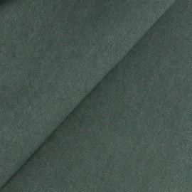 Tissu jeans 400gr/ml vert militaire x 10cm