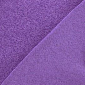 Looped Polar Fabric - light plum x 10cm