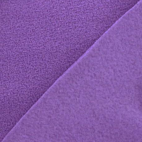 Tissu Polaire bouclée prune clair x 10cm