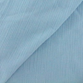 Tissu crépon - bleu pastel x 10cm