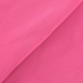 Crepe with satin reverse side Fabric - pink x 10cm