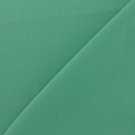 Crepe with satin reverse side Fabric - sage green x 10cm