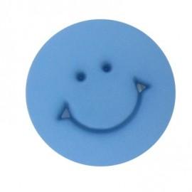 Bouton rond Smile bleu