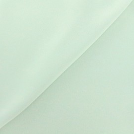 ♥ Coupon 40 cm X 150 cm ♥ Tissu crêpe envers satin vert d'eau