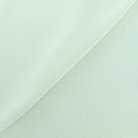 Tissu crêpe envers satin vert d'eau x 10cm