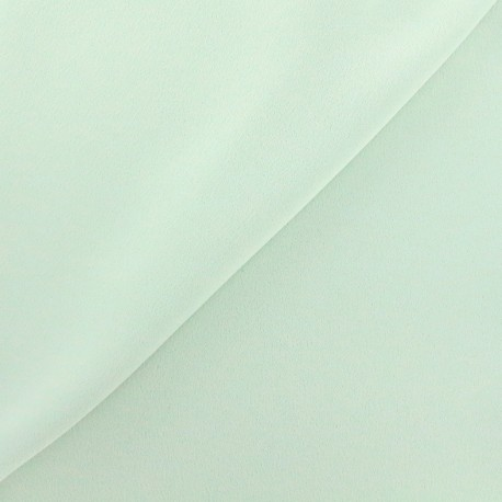 Crepe with satin reverse side Fabric - light green x 10cm