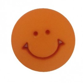 Button, round-shaped, Smile - orange