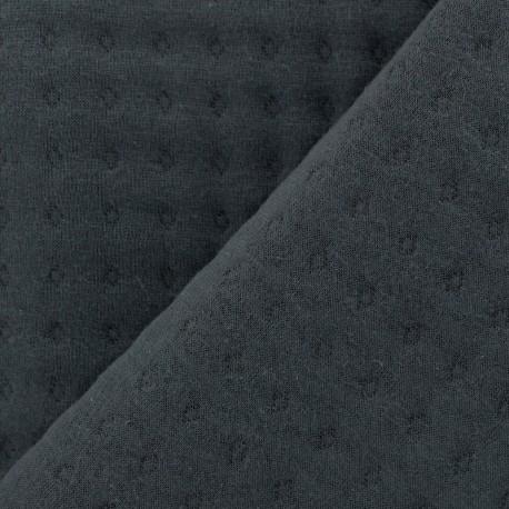 Tissu jersey matelassé Basik Poinçon Camillette Création - grigri x 10cm