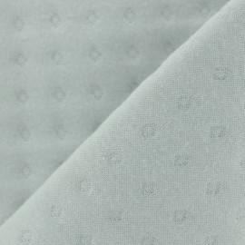 Quilted Jersey Fabric Basik Poinçon Camillette Création - grisouille x 10cm